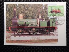 Spain Mk ferrocarril Train Steam Locomotive maximum mapa maximum card mc cm a7844