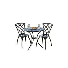 Bistro Set Outdoor Garden Patio Furniture Cast Aluminum, (3-Piece) Table Chair