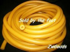 "By the Foot 1/4 I.D x 3/16""w x 5/8 O.D Thick Wall Latex Tubing Amber Rubber Heav"
