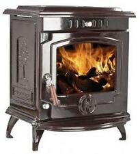 11.5kW 657 Lilyking Brown Enamel Multi Fuel Cast Iron Boiler Stove - STOVE SALE