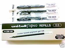 12pcs UNI-BALL UMR-5 0.5mm roller ball pen only refill for UM-100 black (Japan)