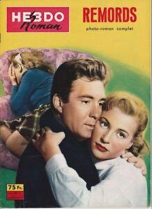 Hebdo Roman N° 9/1958 - Remords, Otello Toso Maria Grazia Francia Linda Sini