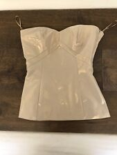 Flavio Castellani Gold Bustier Strapless Lined Fitted Side Zip Top