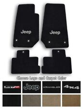 Jeep Wrangler Velourtex Carpet 4pc Floor Mat Set - Choose Color & Logo