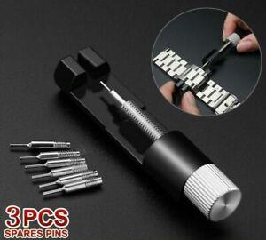 UK Metal Adjuster Watch Band Strap Bracelet Link Pins Remover Repair Tools Kit