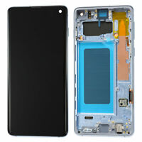 LCD Display Touch Screen Digitizer + Frame For Samsung Galaxy S10 Prism Blue OEM