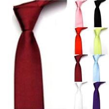 Hommes Classique plaids Réglable Mariage affaires bureau cravates Uni habillé