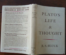 Plato's Life and Thought by R.S. Bluck - 1949 - 1st Edition - Philosophy - HBDJ
