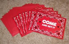 C.R.Gibson Creative Papers Red Bandana Party Invitations ...Set of 8 w/envelopes