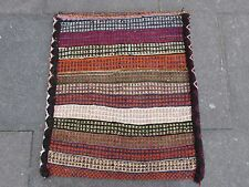 Old Hand Made Persian Oriental Wool Red Colourful Tribal Kilim Bag 80x70cm