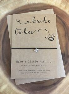 Bride To Bee Be Wedding Engagement Congratulations Wish Bracelet Gift