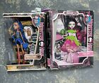 RARE Monster High Doll Lot(2) SNOW BITE 2012 Rebecca Steam 2011 - Box minor flaw
