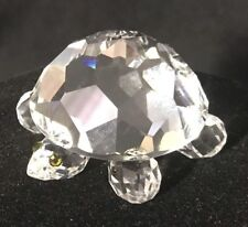 Swarovski Silver Crystal Turtle Figurine -Endangered Species 2 1/4� Long -Marked