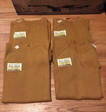 Lot 4 Vintage 60s Short Sleeves Brown 95% Cotton 5% Acrylic Sweatshirt. Unworn.
