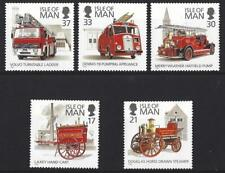 ISLE OF MAN 1991 FIRE ENGINES UNMOUNTED MINT, MNH