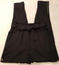 Mimi Chica Womens Pants Sz SNordstroms Black Ankle Zip Elastic Tie Waist NWT/NEW