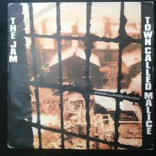 "The Jam Town Called Malice Rare Spain 7"" Picture Sleeve Punk Mod The Who"