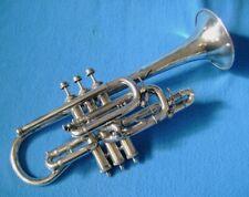 Brilliant Vintage Silver Henry Gautier B, B b, A Cornet,  Plays very well.