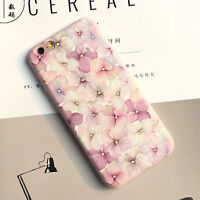 Pink Flower Phone Case Cute Cartoon TPU Soft Cover For iPhone 7 plus 6s 6plus UK