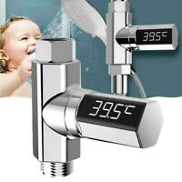 LED Display Electricity Celsius Flow Self-Generating Shower Thermome Water D0X4