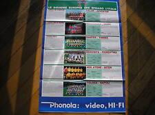 POSTER EURO CUP TEAMS 1986 AEK BOAVISTA NANTES VALUR ZARAGOZA TOULOUSE FOOTBALL