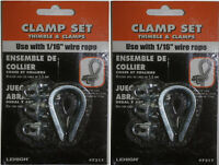 Size Variations Available Double Rope Clamps Ropes Cord Heavy Duty Zinc Plated 3//8-5 Pack
