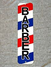 Metal Sign BARBER shop barbershop pole hair stylist cut chair hairdresser