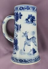 Chinese Antique Kangxi or Transitional Blue & White Mug - China Qing or Ming