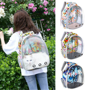 Portable Pet Backpack Dog Space Capsule Breathable Bag Travel Cat Carrier