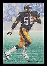 Jack Ham Goal Line Art Card Pittsburgh Steelers