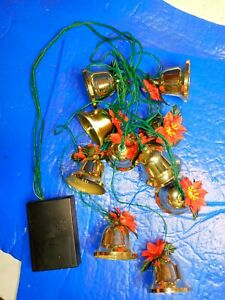 Vintage Electronic Musical Christmas Bells and Leaves light  plays several songs