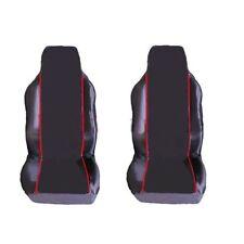Toyota Celica Coupe 1+1 Fundas de los asientos delanteros Negro Rojo Tubería