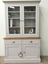 4ft New Solid Pine Painted Welsh Fully Glazed Dresser - Dinning / Kitchen Unit