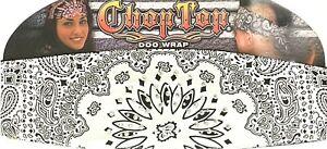 CHOP TOP WHITE PAISLEY W/RHINESTONES DOO WRAP HEADBAND BANDANA BIKER DOO RAG