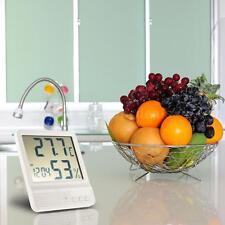 Digital Thermometer Hygrometer Temp Meter Clock Calendar for Wall Hanging D1F3