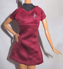 DRESS ~ MATTEL MODEL MUSE BARBIE DOLL LT. UHURA STAR TREK 2008 RED UNIFORM DRESS