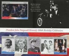 More details for tanzania 2017 mnh jfk john f kennedy 100th bday 6v m/s ii us presidents stamps