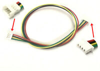 1.25mm 4-Pin Pitch JST PicoBlade Male to Female 4P connector 20cm wire lead x 10