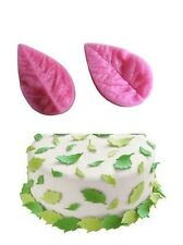 3D Small Leaf Veiner 2 pc Silicone Mold Set for Fondant, Gum Paste, Chocolate