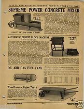 1920 PAPER AD Supreme Power Concrete Cement Mixer Block Machine