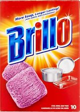 Brillo Steel Wool Soap Pads (Pink) - 10 CT
