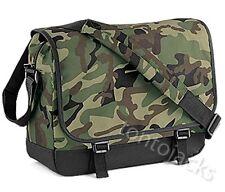 VERDE Mimetico Camouflage Messenger Spalla Studente di spedizione COLLEGE BAG Manbag