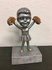 Female Cheerleader Bobblehead Resin Trophy - Free Engraving