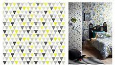 Arthouse Jester Lime Grey Multi White Triangle Wallpaper, 696006