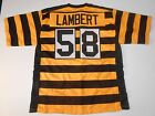 Pittsburgh Steelers Jack Lambert UNSIGNED CUSTOM Bumblebee Throwback Jersey - XL