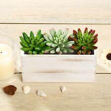 """3 Green 6"""" Assorted Faux Spiky Succulent Sprays Stems Wedding Party Centerpieces"""