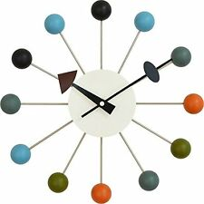 George Nelson Desien Ball Clock [Art clock of radial form and pop color ball...