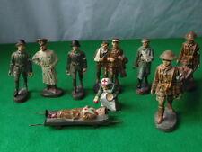 Vintage ELASTOLIN/LINEOL british & armée allemande soldats blessés etc x10