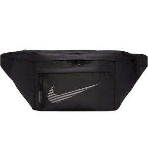 Nike Heritage Travel Casual Large Bum Bag - Black