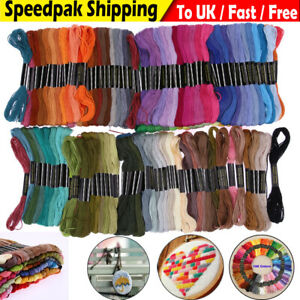 50 100 150x Colors Embroidery Line Thread Hand Cross Stitch Sewing Skeins Craft